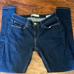 Levi's dark wash skinny jeans sz 30